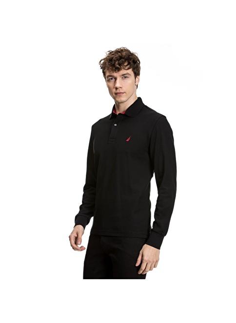 Nautica Polo Yaka Tişört Siyah